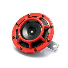 "4.8"" Black & Red Grill 12V Universal Round Horn for Cars ATV Motorbikes Trikes"