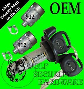 GMC Sierra Pickup GMT800 99-00 Ignition Key Switch Lock Cylinder & Door Lock Set