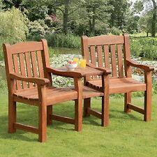 Balmoral Hardwood Love Seat Companion Bench By Suntime Garden Furniture