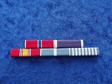 Ordensspange KOREA 5 Ribbons: Standard + Bronze Star + Purple Heart
