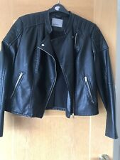 Ladies Short Biker Style Jacket Size XL By Vero Moda
