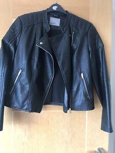 Ladies Short Biker Jacket Size XL By Vero Moda