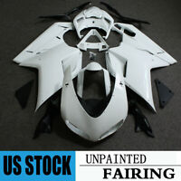 For Ducati 848 1098 1198 2007-2012 Unpainted Fairing Kit Injection ABS Body Work