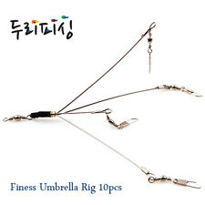 lot of 10ea Durifishing Finesse Umbrella(Alabama) Rig