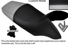 BLACK & LIGHT GREY CUSTOM FITS HONDA TRANSALP XL 700 V 08-12 DUAL SEAT COVER