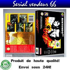 "Boitier du jeu ""GOLDENEYE 007"", nintendo 64, visuel PAL FR. HD."