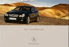 Mercedes-Benz C-Class Sports Coupe 2004-06 UK Market Sales Brochure
