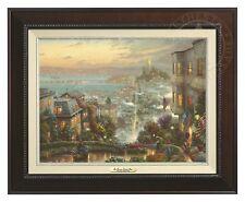 Thomas Kinkade San Fran, Lombard Street 12 x 16 Canvas (Espresso Frame)