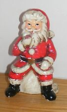 Vintage RB Japan Santa Claus Smoking A Pipe Setting On a Bag Of Toys Figure 1485