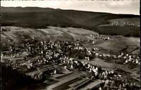 Schömberg bei Wildbad im Schwarzwald alte Postkarte ~1950/60 Totale Luftaufnahme