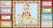 Mary Engelbreit Kitchen Capers Recipe Cooking Cook Chef Food Cotton Fabric PANEL