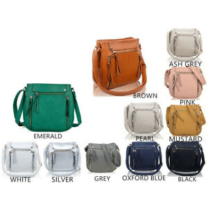 Craze London Women's Multi Zip Pockets Messenger Bag