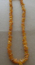 raw Antique Natural  honey butterscotch    Baltic Amber Beads Necklace .18. ""
