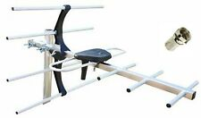 More details for digital tv aerial 7 element hd freeview outdoor  loft ariel arial antenna 4g