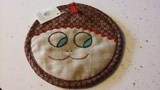New listing Handcrafted Quilted Pot Holder Hot Pad Made In Benson Vt Sweet Face Nwt