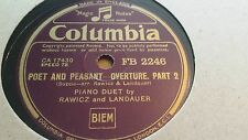 RAWICZ AND LANDAUER POET AND PEASANT OVERTURE COLUMBIA FB2246