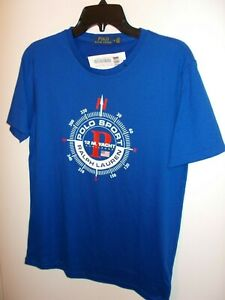 NWT Mens Medium Blue Polo Ralph Lauren 12M. Yacht Challenge T-Shirt New