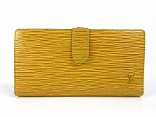 Auth Louis Vuitton Epi Continental Vienowa M63259 Bifold Long Wallet 35378
