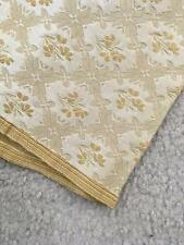 "2 yards upholstery fabric x 57"" wide gold floral textured"