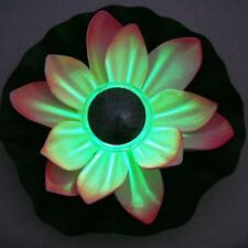 Solar LED Lotus Flower Light Floating Fountain Pond Garden Pool Lamp Color Chang