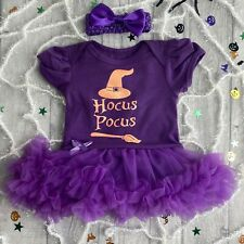 HOCUS POCUS HALLOWEEN WITCH OUTFIT Baby Girl Fancy Dress Party Dress Costume