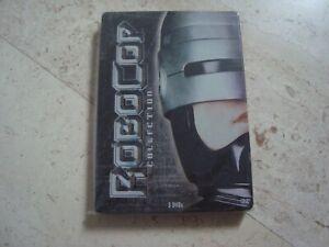 ROBOCOP TRILOGY rare 3Disc DVD SteelBook Paul Verhoeven Nancy Allen Peter Weller