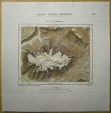 1893 Perron map CHIMBORAZO, ANDES, ECUADOR (#77)