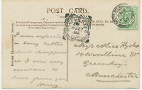 "GB ""MANCHESTER / S.W."" very rare Squared Circle Postmark (Cohen Type 1 I CT)"