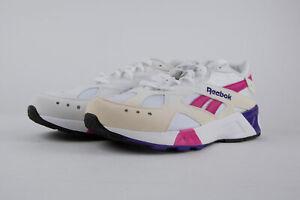 REEBOK Classic Unisex White/Rose/Cobalt/Purple Aztrek Sneakers US 10 NWD