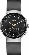 Braun Para hombres Reloj BN 0159 SLBKBKG clásico con Dial Negro Plata Estuche Y