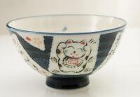 Cuenco Gato Japonés Maneki Neko 12.5CM De Porcelana Del Japón Fabricado en 395