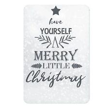 Aluminium Sign-Have Yourself a Merry Little Christmas-Metal Door,Wall Plaque