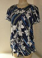 NEXT MATERNITY SHORT SLEEVE TOP SHIRT Size 10, 12 or 14 ~BNWT~ BLUES & WHITE