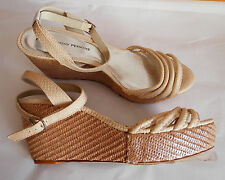 DOROTHY PERKINS (UK7 / EU41) VENICE CREAM WEDGES WITH SILVER SPARKLE - NEW