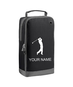 Personalised Golf Shoe Bag - embroidered with Golfer and your name, initials