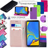 For Samsung Galaxy A7 2018 / A9 2018 - PU Leather Wallet Stand Flip Case Cover