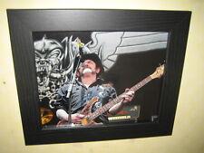 Lemmy {Motorhead} Ian Kilminster - Signed Photograph (10X8) Framed  with CoA -