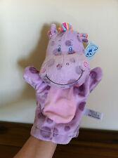 Hippo/Hippopotamus Soft Plush Hand Puppet Toy Newborn Baby Gift Called Hippi