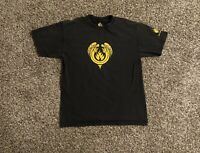 VTG Black Label Skateboards Mens T-Shirt Medium Double Sided Graphic Made In USA