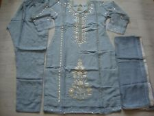 Embroidered crepe net mirror work  Stitched  Summer Suit  new 2020 salwar kameez
