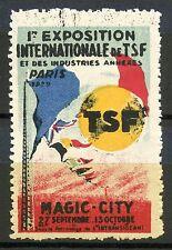 ERINNOPHILIE TIMBRE VIGNETTE / 1° FOIRE INTERNATIONALE PARIS DE LA TSF 1929