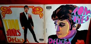 TOM JONES Delilah 45rpm 7' + PS 1968 ITALY MINT- Psych Gatefold cover TOP!!!