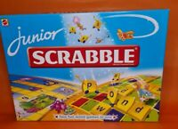 MATTEL Junior Scrabble Board Game. Two Games in One. 2009  -Complete-