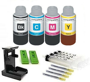 Ink Cartridge Refill Kit And Tool For Use In Canon PG-545, CL-546 4 X 100ml