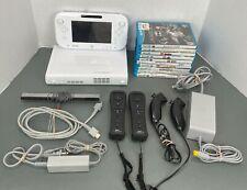 Nintendo Wii U 8GB WHITE Console Bundle w/ Wii Sports CLUB, Mario Kart Installed