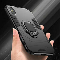 For iPhone XR XS Max 7 8 X Hybrid Magnetic Stand Ring Holder Hard Armor Case