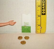 MINIATURE RE-MENT COOKIES & BAKERY BAG FASHION DOLL 1/6 SCALE FOOD RETIRED