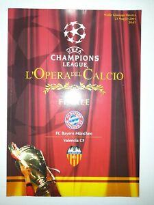 2000/01 UEFA Champions League Final Bayern Munich V Valencia Match Programme