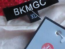 BKMGC NudeLinedRedStretchLaceEveningSizeXL NWT