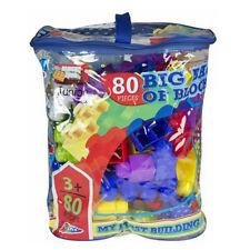80PC BIG BAG OF BLOCKS BUILDING KIDS FUN CONSTRUCTION LEGO BRICKS TOY GIFT XMAS
